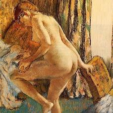 After Bath Desnudos, Pintura Edgar Degás