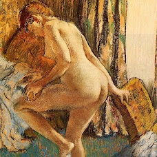 After Bath Desnudos, Pintura Edgar Degás