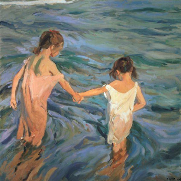 joaquin sorolla niñas en el mar